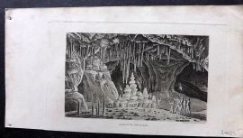 Phillips (Pub) 1823 Antique Print. Grotto of Antiparos, Greece